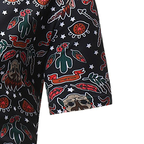 Aimee7 Été Courtes Casual Chemises Tops Imprimé Manches Chics Vintage Homme Floral p641qpw