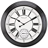 Sterling & Noble Classic Wall Clock in Black