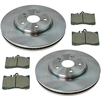 Rear Posi Ceramic Disc Brake Pad /& Rotor Kit LH /& RH Set for 01-06 Lexus LS430