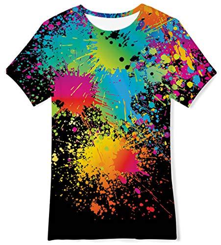 BFUSTYLE Black Crewneck Tee Shirt Graphic Prints Shirts