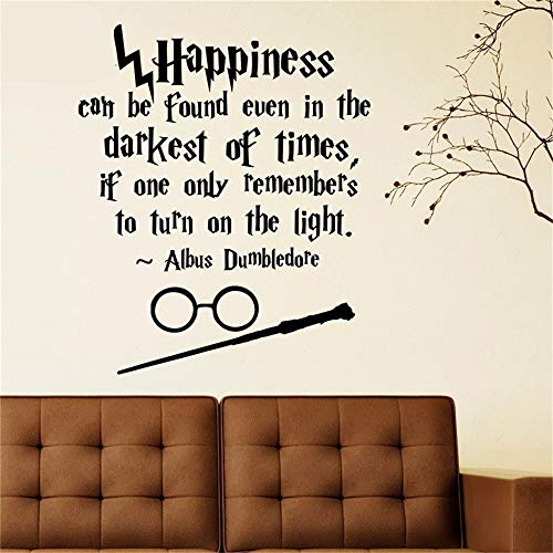 (K009 Harry Potter Quotes Wall Art Sticker Decal Home DIY Decoration Wall Mural Room Decoration Vinyl Wall Stickers Mural)