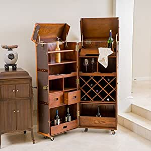 wine kitchen cabinet rolando rolling bar cabinet amp wine rack 1115