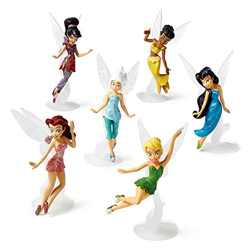 Disney Fairies 6-pc. Figure Set, Tinker Bell, Periwinkle, Iridessa, Rosetta, Silvermist and Vidia - Mr D Halloween Costume