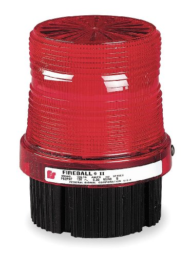 Federal Signal FB2PST-120R Fireball Strobe Warning Light, Single Flash, 1/2'' NPT Pipe/Surface Mount, 120 VAC, Red by Federal Signal