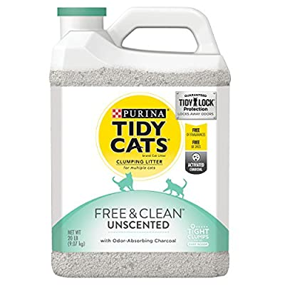 Cat Litter Purina Tidy Cats Clumping Cat Litter, Free & Clean Unscented Multi Cat Litter – (2) 20 lb. [tag]