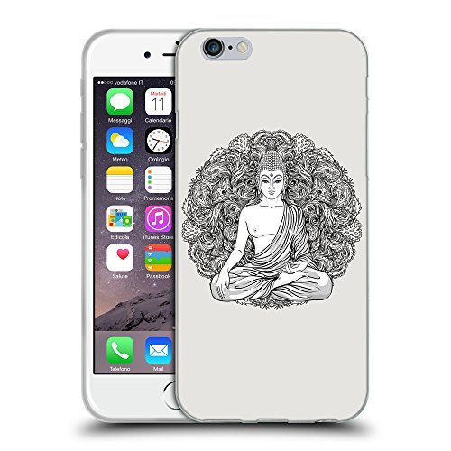 GoGoMobile Coque de Protection TPU Silicone Case pour // Q07710631 Bouddha 7 Platine // Apple iPhone 6 4.7""