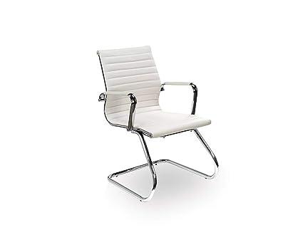 Amazon Com Office Source Leathertek Nova Sled Base Guest Chair