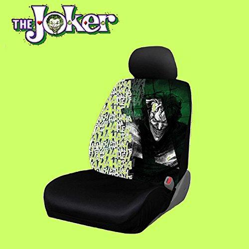 New Design 8 Pieces DC Comic Joker Car Seat Covers Floor Mats And Steering Wheel