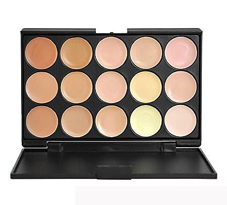 Pure Vie® 15 Colores Corrector Camuflaje Paleta de Maquillaje Cosmética Crema - Perfecto para Sso Profesional y Diario