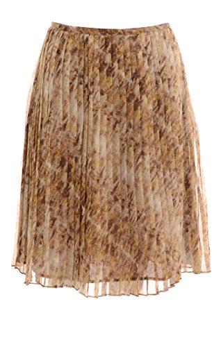 Jones New York Women's Pleated Skirt, Rum Multi, 10