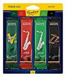 Vandoren SRMIXT25 Tenor Sax Jazz Reed Mix Card includes 1 each ZZ, V16, JAVA and JAVA Red Strength 2.5