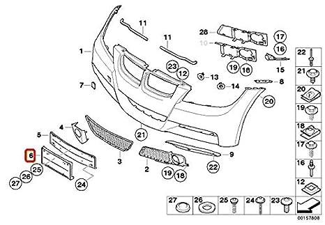 Amazon Com Bmw 51 11 7 058 449 Licence Plate Base Automotive