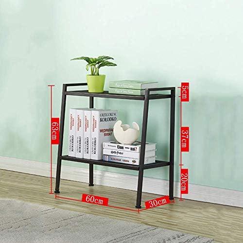 Metal Industrial Bookshelf and Bookshelf Bookshelves Simple Open Bookshelves Metal Frame Bookshelves Display Rack for Living Room Brown 60x30x63cm (24x12x25 inch)