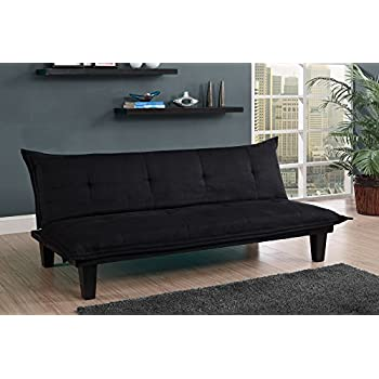 Amazoncom DHP Emily Futon Couch Bed Modern Sofa Design Includes