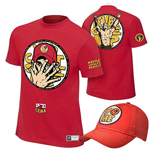 WWE John Cena T-shirt , Cap 2 Piece Set (XL, ()