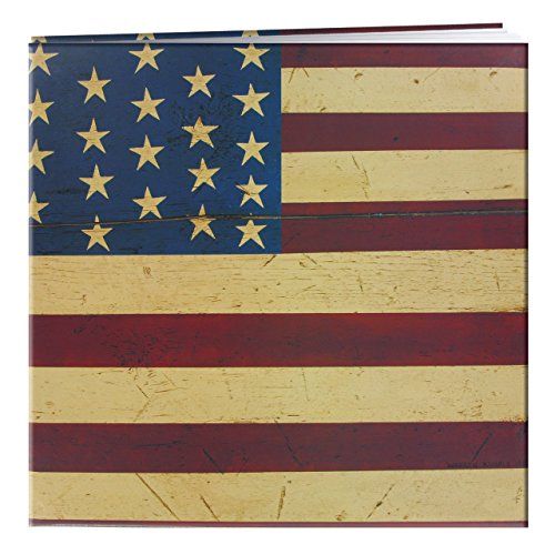 Warren Kimble Picture - Pioneer 12 Inch by 12 Inch Postbound Designer Cover Memory Book, Warren Kimble Flag