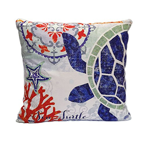 Angji Cute Ocean Theme Decorative Pillow Covers Soft