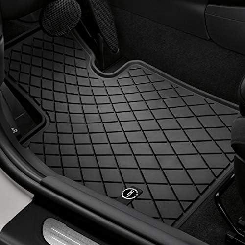 MINI 51472354155 All-Weather Floor Mats in Essential Black for F55 Hardtop 4 Door, F56 Hardtop 2 Door & F57 Convertible (Set of 2 Front Mats)