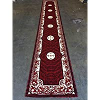 Traditional Long Rug Runner Red Americana Design 101(32 Inch X 15 Feet 10 Inch )