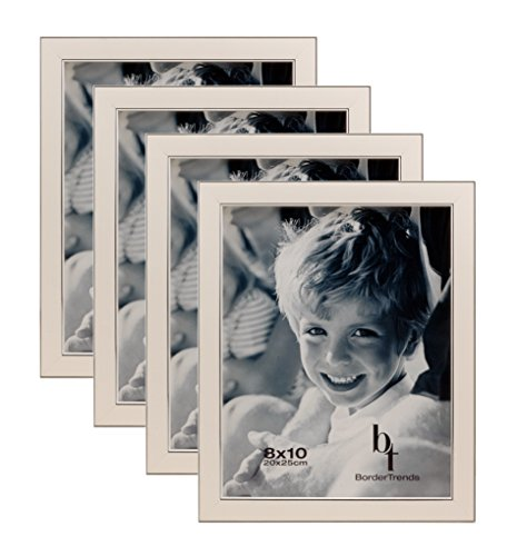 BorderTrends Echo 8x10-Inch Wall Photo Frames, Cloud White &