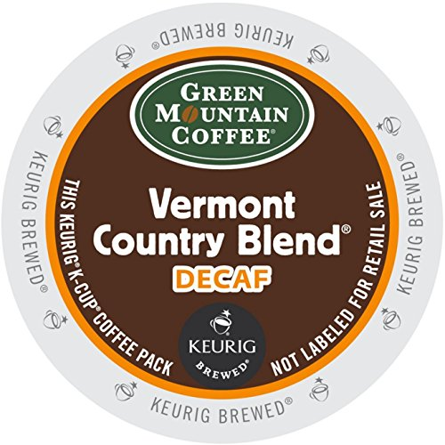 Vermont K-cups Blend Country (Green Mountain Coffee Roasters 7602CT Vermont Country Blend Decaf Coffee K-Cups, 96/carton)