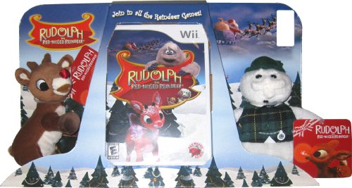 Rudolph The Red Nosed Reindeer Plush Bundle   Nintendo Wii