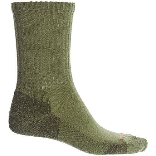 SmartWool Men's Heathered Rib Socks (Loden) (Green Wool Loden)