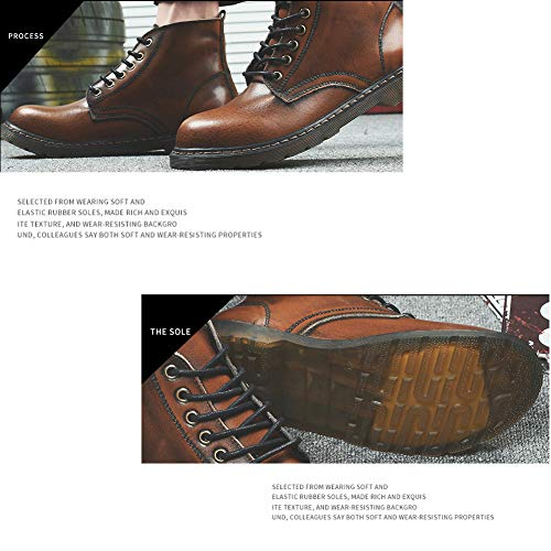 Scarpe Inglesi Antiscivolo Moda In Stivali Pelle Martin Retr tn8WzxqB