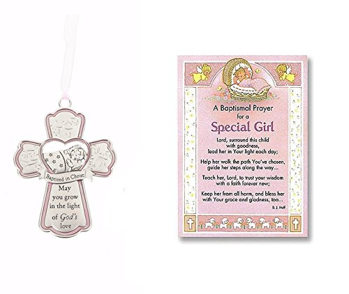 Special Girl Baptism Card and Crib Cross ()