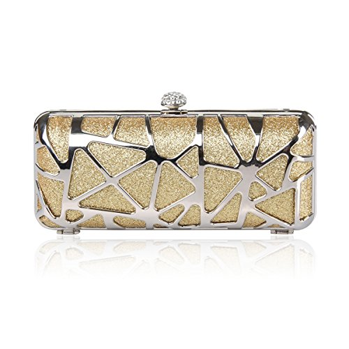 Gift Bead Masee Metallgold Leaf Clutch Veni Various Seed Collection Sequined Handbag Floral Evening Bag Exquisite bead Soft Seed colors Sequin Antique Ideas TxqdFwO