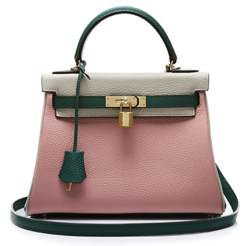 Macton - Sac Femme 28cm-gris + vert + rose
