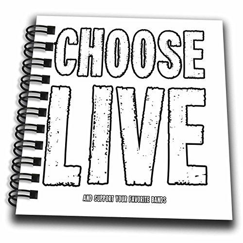 3droseカルステンライジンガーイラスト−–Illustrationsライブとサポート–Choose your favoriteバンドコンサートFestival Fun–Drawing Book 4x4 notepad db_261172_3