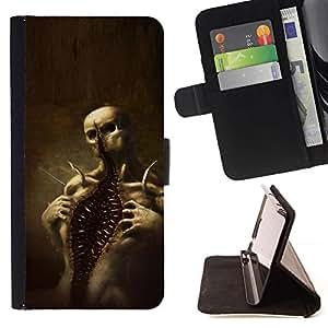 Momo Phone Case / Flip Funda de Cuero Case Cover - Cráneo Monster Scary Halloween de - Samsung Galaxy Note 5 5th N9200
