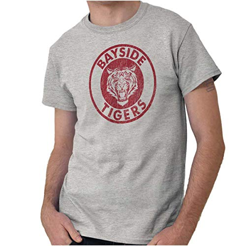 Bayside Tigers Sports Nineties Retro Gym T Shirt Tee
