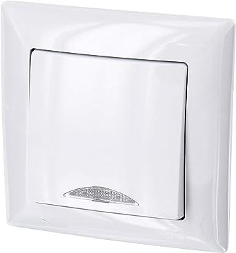 Up G1 – Interruptor de encendido y apagado con iluminación led, todo en uno, marco + caja para empotrar + cubierta protectora (color blanco puro): Amazon.es: Iluminación