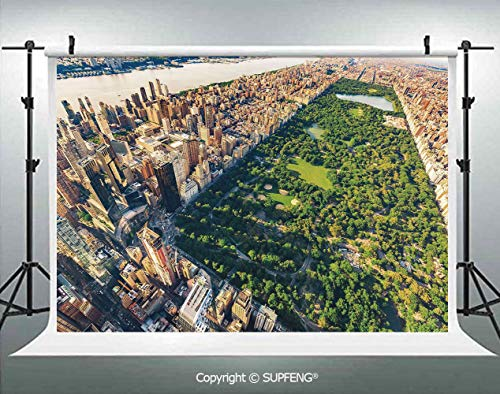 Background Central Park from The Air Surrounded by Buildings Downtown View Decorative 3D Backdrops for Interior Decoration Photo Studio Props -
