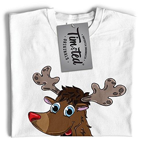 Tim and Ted Natale Renna Stampato Slogan Citazione Design Qualità Premium T-Shirt da Donna