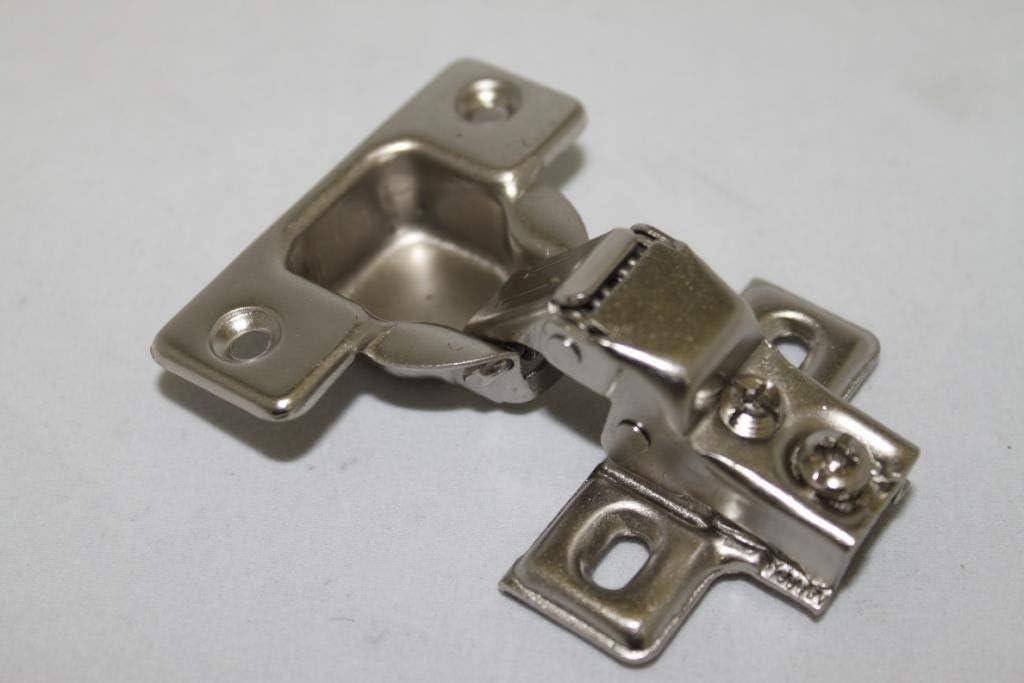 "(50) 1/2"" Overlay Short Arm Face Frame Cabinet Hinge Steel Plate Free Screws"