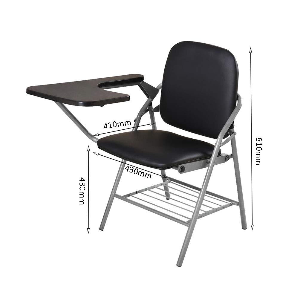 Admirable Amazon Com Qyyczdy Folding Chair Desk Chair Black Faux Alphanode Cool Chair Designs And Ideas Alphanodeonline