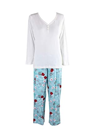 Charter Club Womens Dogs Winter Holiday Two-Piece Pajamas at Amazon Women s  Clothing store  1e9b32367