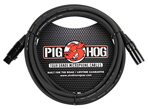 Pig Hog PHM10 High Performance 8mm XLR Microphone Cable, 10 Feet