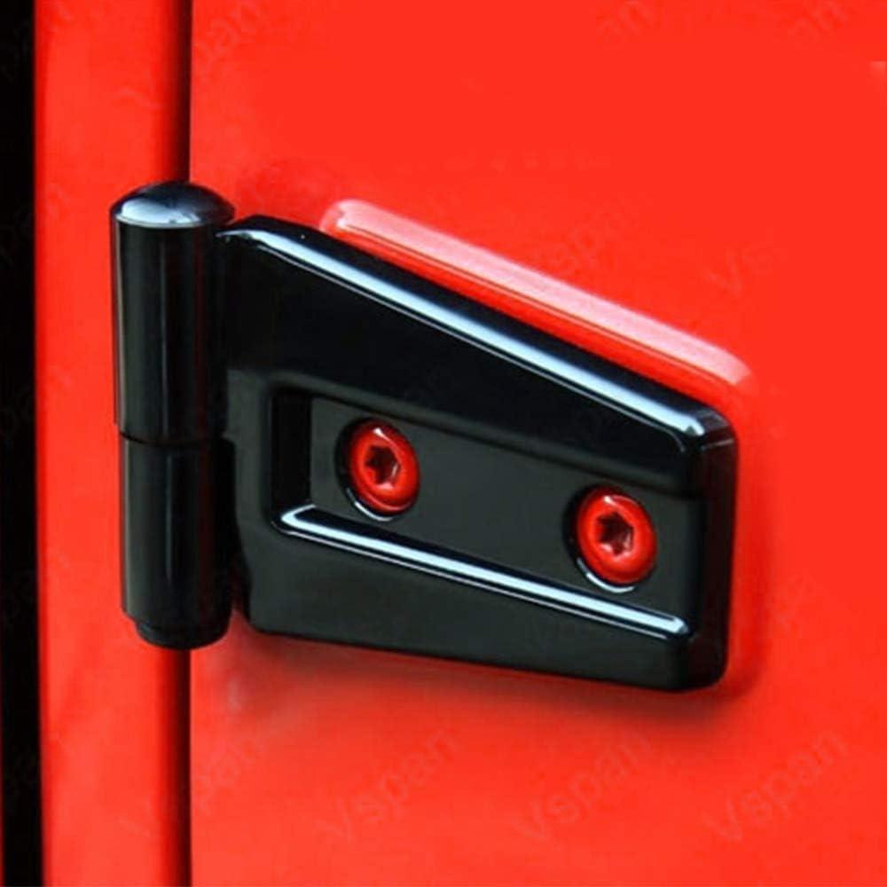 KAIRAY Black Door Hinge Protector Jeep Wrangler Accessories Kit Fits For Jeep JK Wrangler Unlimited 4-Door 2007-2018