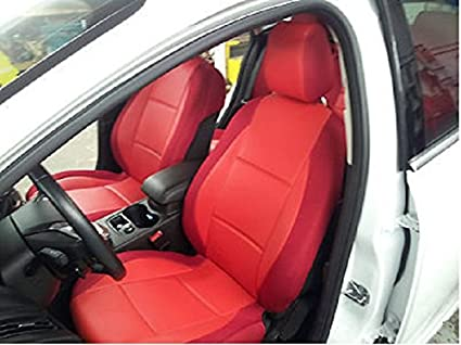 Mix Leatherette Middle And Synthetic Sides Two Front Custom Car Seat Covers