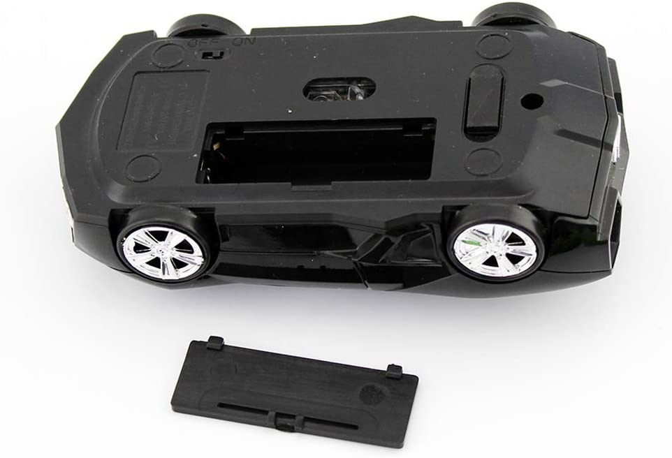Black Wireless Car Mouse 2.4Ghz Cool Mini Sports Cordless Car Mouse Optical Computer Office Mice 1600 DPI for Laptop Computer Mac Novelty Gifts for Kids