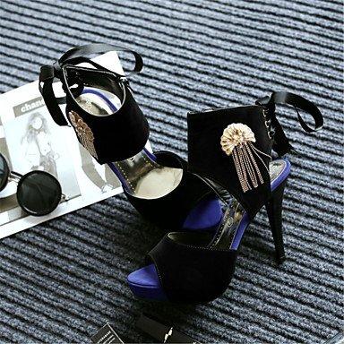 LvYuan Mujer-Tacón Stiletto-Confort Innovador-Sandalias-Vestido Informal Fiesta y Noche-Vellón Materiales Personalizados-Negro Beige Black