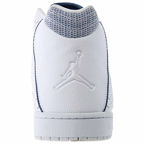 nike air jordan effetto da uomo scarpe sportive alte 705141 scarpe da tennis Bianco/Francese Blu