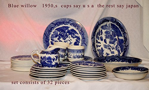 - Vintage Occupied Japan Blue Willow Side Dish,1950's (Side Bowl-5.3