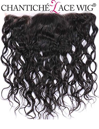 Chantiche 13x4 Brazilian Water Wave Lace Frontal Closure Unprocessed Virgin Remy Human Hair Extensions Ear To Ear Full Lace Closures With Baby Hair Best Hair Closures Bleached Knots 12 inches