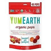 YumEarth Organic Lollipops, Assorted Flavors, 40 lollipops