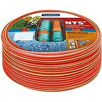 Tramontina Mangueira NTS Antitorção com Engates Rápidos e Esguicho em PVC 5 Camadas, 1/2 Polegadas, 15 m, Vermelho…